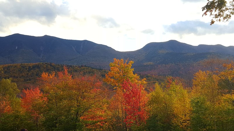 Kancamagus Scenic Byway in fall.