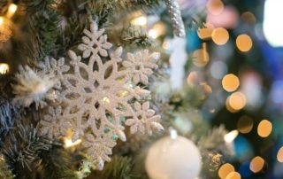 Close up of snowflake ornament